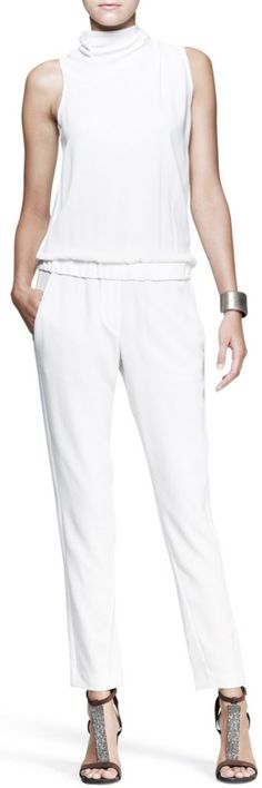 Brunello Cucinelli White Jumpsuit
