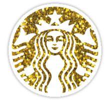 Gold Glitter Starbucks Sticker