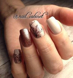 What Christmas manicure to choose for a festive mood - My Nails Gel Nail Art, Nail Manicure, Acrylic Nails, Love Nails, Pretty Nails, My Nails, November Nails, Fall Nail Art Designs, Autumn Nails