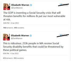 Elizabeth Warren Launches Social Media Attack on GOP - http://conservativeread.com/elizabeth-warren-launches-social-media-attack-on-gop/