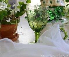 love these green goblets