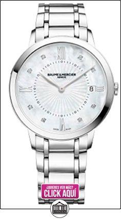 Baume y Mercier Classima nácar diamante 36mm reloj de pulsera de mujer 10225  ✿ Relojes para mujer - (Lujo) ✿ ▬► Ver oferta: https://comprar.io/goto/B01MQ3KNQT