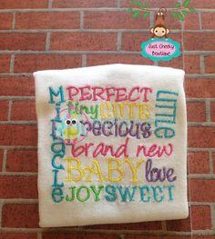 BABY  Subway Art  Machine Embroidery Design by AppliqueGuru, $3.99