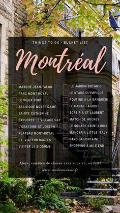 Dans cet article découvrez la bucket list des 20 meilleures choses à faire à Montréal lors de votre séjour pour visiter les lieux incontournables de la ville. The post Bucket List : Que faire à Montréal appeared first on Madame Aime Blog Lifestyle.