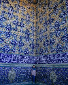 Super beautiful capture of elegance of Iranian architectural Sheikh Lotfollah Mosque is one of the architectural masterpieces of Safavid Iranian architecture,it was build . Location: city of - IRAN Persian Architecture, Art And Architecture, Traditional Tile, Iran Travel, Hd Picture, Haunted Places, Sacred Art, North Africa, Islamic Art