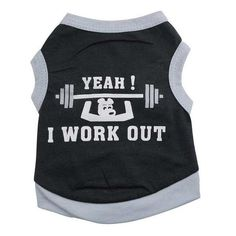 I Work Out Dog Muscle T Shirt