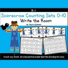 Scarecrow Write the Room (Counting Sets by Sherry Clements Kindergarten Lessons, Kindergarten Classroom, Classroom Activities, Math Lessons, Teaching Math, Teaching Ideas, Elementary Math, Early Finishers Activities, Writing Pictures