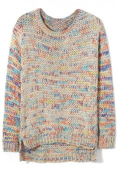 Rainbow Color Knit Sweater