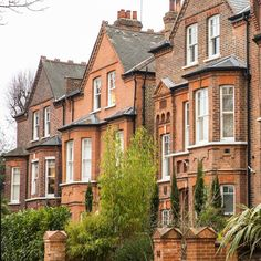A row of brick houses in London's Belsize Park