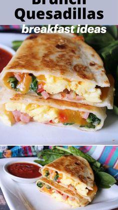 Breakfast Time, Breakfast Dishes, Breakfast Casserole, Breakfast Ideas With Eggs, Breakfast Quesadilla, Breakfast Tortilla, Breakfast Sandwiches, Best Brunch Recipes, Healthy Breakfast Recipes