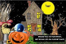 Wieder mal ist Halloween, wir wollen um die Häuser ziehn.
