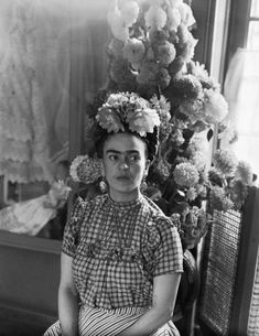 Eclectic Vibes — Frida Kahlo photographed by Sylvia Salmi, 1944.