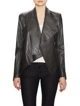 Supple Leather Foldover Jacket