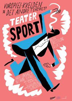 Vorspiel-Kvelden på Det Andre Teatret - Teater Sport. > Bendik Kaltenborn.