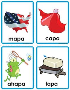 Picture Simple Spanish Words, Spanish Phrases, Spanish Language, Pre K Activities, Spanish Activities, Preschool Spanish, Teaching Spanish, Learn To Speak Spanish, Phonological Awareness