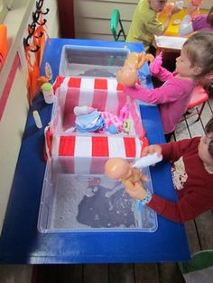 Bathing babies in the water table