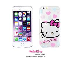HELLO KITTY CHARMING CLEAR HARD PHONE CASE FOR GALAXY S6