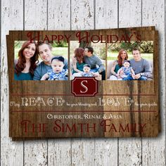 """Christmas Card - """"May Peace Be Your Blessing  and Love Be Your Guide"""""""