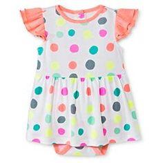 Oh Joy!® Baby Polka Dot Skirted Bodysuit - White