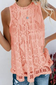 Shopping Round Neck Decorative Lace Lace Blouses online with high-quality and best prices Shirts & Blouses at Luvyle. Thing 1 Shirt, T Shirt, Casual Outfits, Cute Outfits, Fashion Outfits, Amazing Outfits, Casual Tops For Women, Blouses For Women, Lace Tops