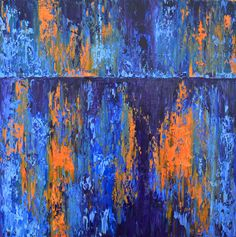 BLUE RUSTY METAL by MELISCH LEONARD ADRIAN Rusty Metal, Original Paintings, Abstract, Blue, Art, Summary, Art Background, Rusted Metal, Kunst