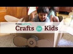 ▶ Make a Cardboard Box Airplane! Learn how with this short and fun video!