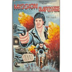 mission impossible bootleg movie poster from ghana. never looked better Tom.