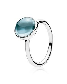 84734185d PANDORA Ring - Sterling Silver & Crystal Blue Poetic Droplet Jewelry &  Accessories - Bloomingdale's