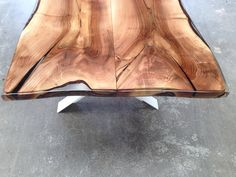 vanouds amsterdam table walnut wood and epoxy (SOLD)