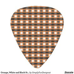 Orange, White and Black Static Weave Guitar Pick