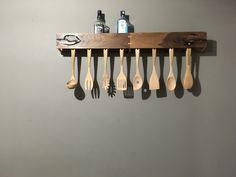 Porta cucharas de madera