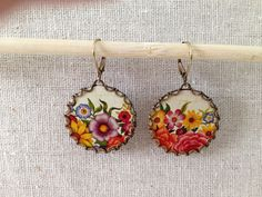 Tin Jewelry Earrings Border Garden Tin for the by TheMadCutter, $26.00