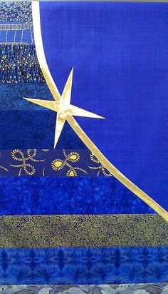Blue Spirit Parament of silk matka, cotton and gold lame'.