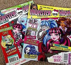 Monster High 2016 January February and Nov Dec 2015 Issues Magazine New | eBay