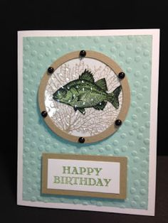 By the Tide, Masculine Birthday Card, Bubble Technique, Stampin' Up!, Rubber Stamping, Handmade Cards, Stamping Tutorial