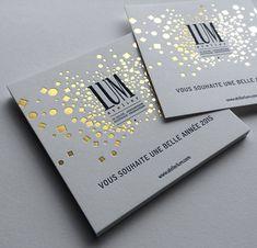 Lum Badcass foil block and letterpress business cards