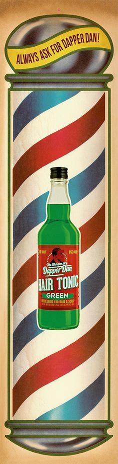 Dapper Dan Hair Tonic Green – Always ask for Dapper Dan! Hair Tonic, Dapper Dan, Barber Shop, Designer, Inspiration, Green, Biblical Inspiration, Barbershop, Inhalation