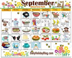 The new free September holiday calendar is available to print!