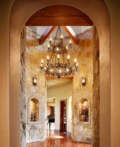 love the look, but the chandeliers a bit much.