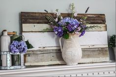 Love the old pieces of wood as a backdrop