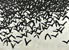 Leon Tarasewicz (Polish, b. 1957) Untitled [Clustered Birds] | Sale Number 2728B, Lot Number 642 | Skinner Auctioneers