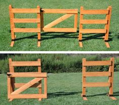Trail gate doubling as jump standards with the gate in the middle.