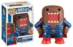 POP! Heroes # 28: Domo + DC Comics: DOMO MAN OF STEEL (Metallic) - SDCC 2013 Limited Edition 1008 pcs