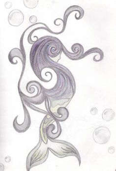 Abstract mermaid drawing!  Gorgeous!