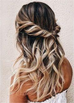 Pretty Hairstyles, Wedding Hairstyles, Popular Hairstyles, Twisted Hairstyles, Teen Hairstyles, Modern Hairstyles, Hairstyles For Night Out, Formal Hairstyles Down, Prom Hairstyles For Long Hair Half Up