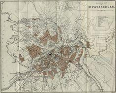 1893. Map of Saint-Petersburg. #Russia