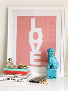 made by girl / love print
