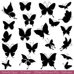 flower sillhouette | Butterfly Silhouettes Clipart Clip Art, Butterfly Clipart Clip Art ...