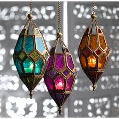 moroccan-two-tone-orange-glass-lantern; fair trade