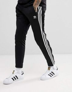 4fe426031a7583 adidas adicolor Popper Joggers In Black CW1283 Jogginghose
